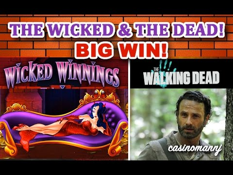 THE WICKED AND THE DEAD - **BIG WIN** - Slot Machine Bonus - 동영상