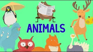 Animals names for children   Animal names for kids education   Kids learning video
