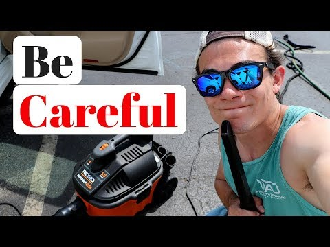 Best Car Detailing Vacuum: Dangers of the 4 Gallon Rigid Shop Vac!