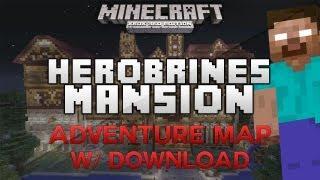 NEW Hypixel's Herobrine's Mansion Adventure Map  Minecraft Xbox 360  w/ Download (HD)