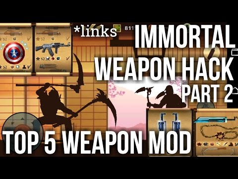 [Part 2] Shadow Fight 2 Immortal Weapon Mod [Captain Shield/Dual AK47/shovel And More]