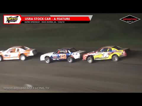 Stock Car Feature - Rapid Speedway - 7/26/19