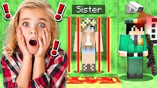 Saving My LITTLE SISTER From Slime PRISON in Minecraft!
