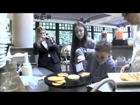 Making Pancakes at the Four Seasons Bosphorus Istanbul, Turkey