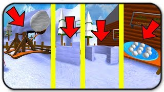 Update! New Overpowered Items And Defensive Walls - Roblox Snow Ball Fighting Simulator