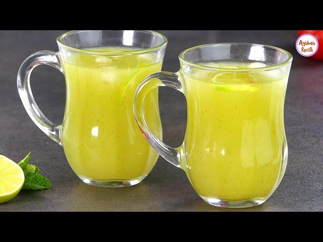 টক-ঝাল-মিষ্টি কাঁচা আমের শরবত - আমপান্না/আমপানা | Green Mango Juice | Kacha Amm Panna Sharbat Recipe