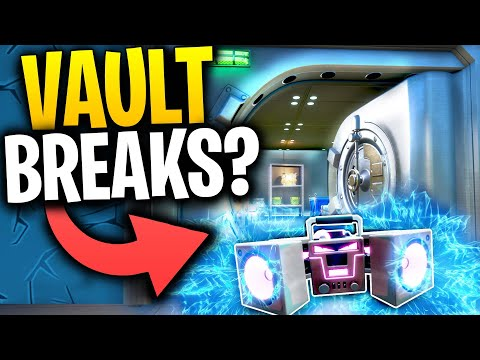 What Happens When You Throw A BOOM BOX Into A VAULT? | Fortnite Mythbusters