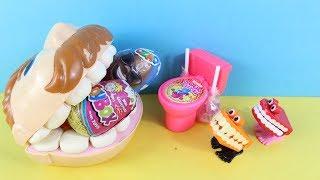 Play Doh Dişçi Ozmo Sürpriz Yumurta Kafalar Yiyor Büyük Diş Amca Aç Adam Hiç Doymuyor