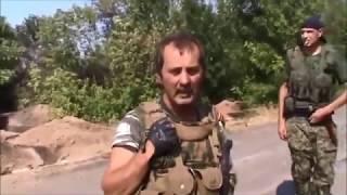 Ukraine war Ополченцами уничтожен блок пост Украинской армии Донбасс Новороссия Россия АТО