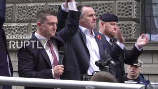 UK: Tommy Robinson calls for 'revolution' ahead of contempt of court trial