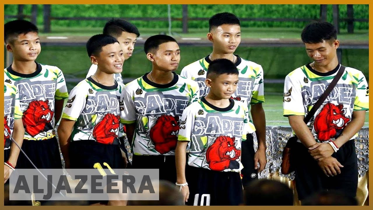 🇹🇭 Thai boys go home after 'miracle' rescue from cave | Al Jazeera English
