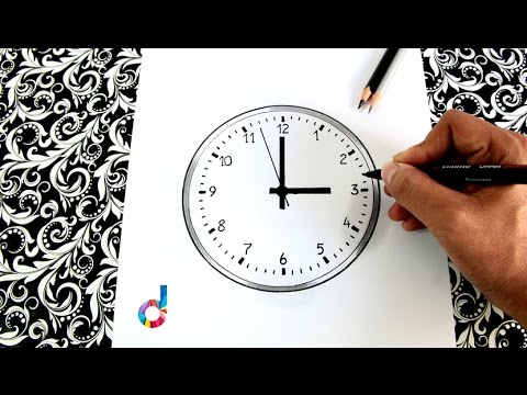 How To Draw A Wall Clock Step By