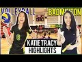 Katie Tracy VOLLEYBALL AND BADMINTON HIGHLIGHTS 2016-2017 🏆 High School Girls Womens Division