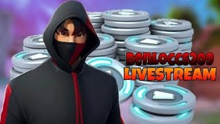 (NA-WEST) CUSTOMS SKIN V-BUCKS GIVEAWAY FORTNITE LIVE STREAM