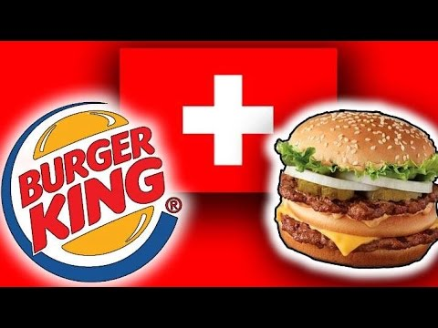 Trying Swiss Burger King (Zurich, Switzerland)