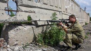 АТО Украина. Реальные кадры боя возле Марьинки. Новости Украины сегодня  Донбасс, АТО