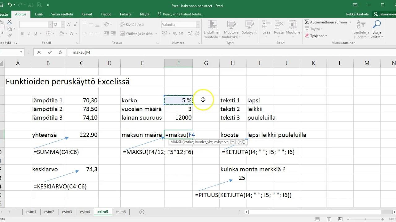 Annuiteetti Excel