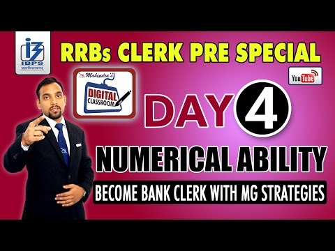 NUMERICAL ABILITY | IBPS RRBs CLERK PRE SPECIAL | DAY - 4 | #DIGITALCLASSROOM