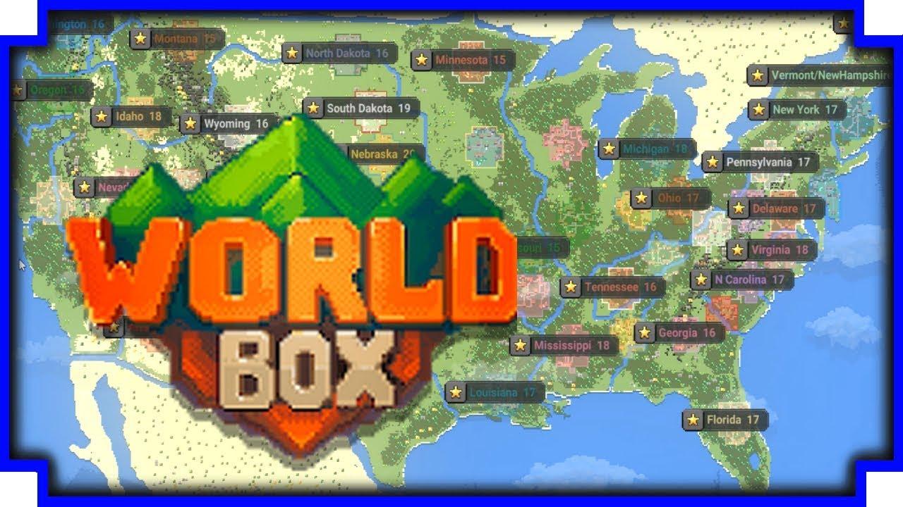 World Box - USA Battle Royale (24 Hour Timelapse)