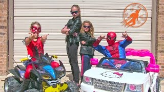 Little Superheroes 26 - Twin Boss Burglar with Superhero Kids Spiderman and Spidergirl