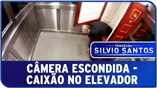 programa silvio santos cmera escondida caixo no elevador