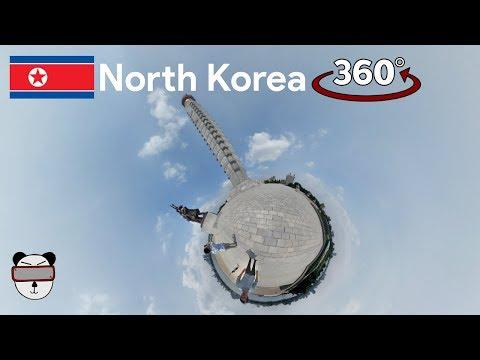 360° Inside North Korea: At The Foot Of Juche Tower | Pyongyang, North Korea