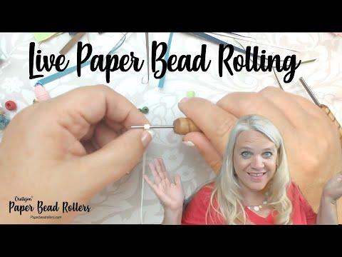 Live Paper Bead Rolling! I'm Baaaaaaack!