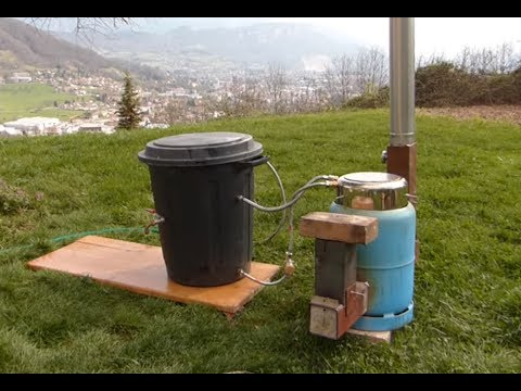ep17 chauffer sa piscine avec un rocket stove water. Black Bedroom Furniture Sets. Home Design Ideas