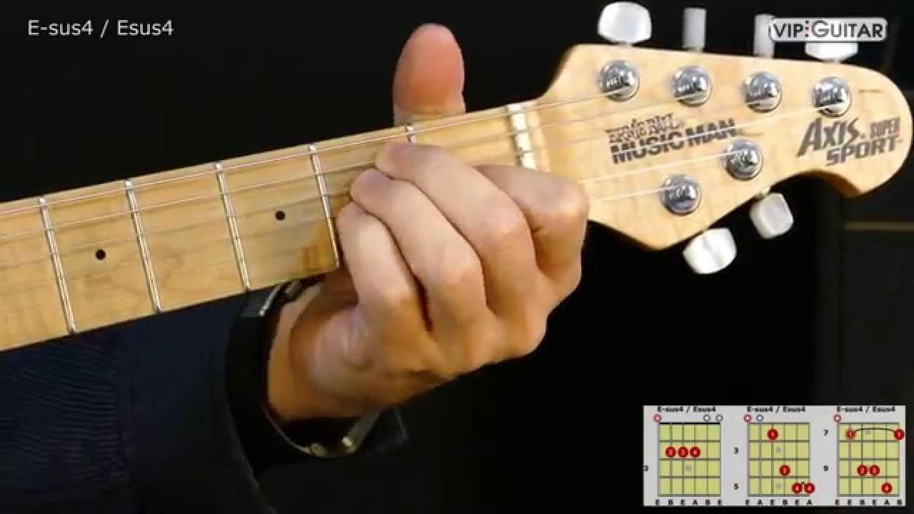 Gitarrenakkorde E Sus4 Esus4 Chord Youtube