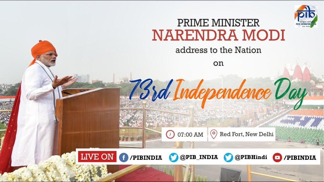 73rd Independence Day of India – 15 August 2019 Celebrations