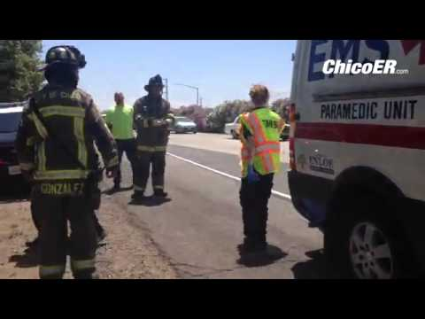 Video: traffic accident on NB Hwy 99 just south of E  20th St exit  #ChicoCa
