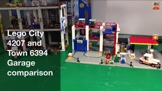LEGO 4207 City Garage and 6394 Town Metro Park and Service Tower comparison