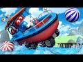 На ДОСКЕ по воде - Трансформер Карл в Автомобильный Город 🚚 ⍟ детский мультфильм