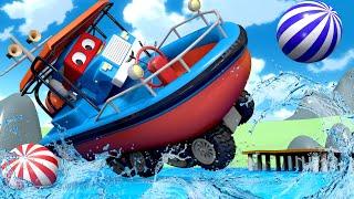 На ДОСКЕ по воде - Трансформер Карл в Автомобильный Город