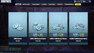 KID BUYS 10 000 V-BUCKS ON FORTNITE - ACCIDENT - FAIL - DAD'S CREDIT CARD
