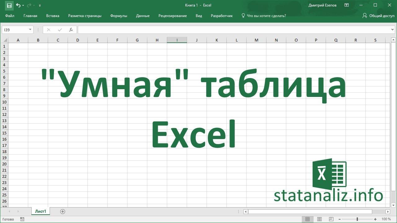 Умная таблица в Excel или секреты эффективной работы