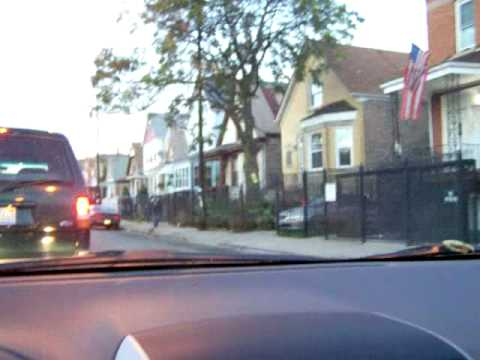 Driving North on Pulaski Road in Chicago