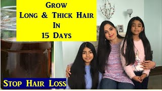 Herbal Hair Oil for Rapid Hair Growth My Hair care routine Long Thick Hair Samyuktha Diaries