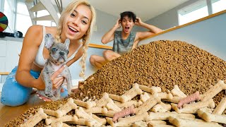 SURPRISING MY PUPPY WITH 1,000,000 DOG TREATS!