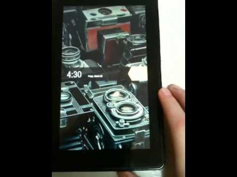 kindle fire lock screen wallpaper  How to change lock screen background on kindle fire - YouTube