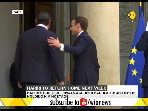 Lebanese PM meets French President in Paris