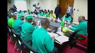 Rais Magufuli akutana na Viongozi wakuu wa CCM na wa Serikali Lumumba