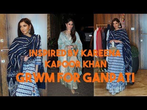 GRWM For Ganesh Chaturthi Inspired By Kareena Kapoor Khan   Shonima Kaul