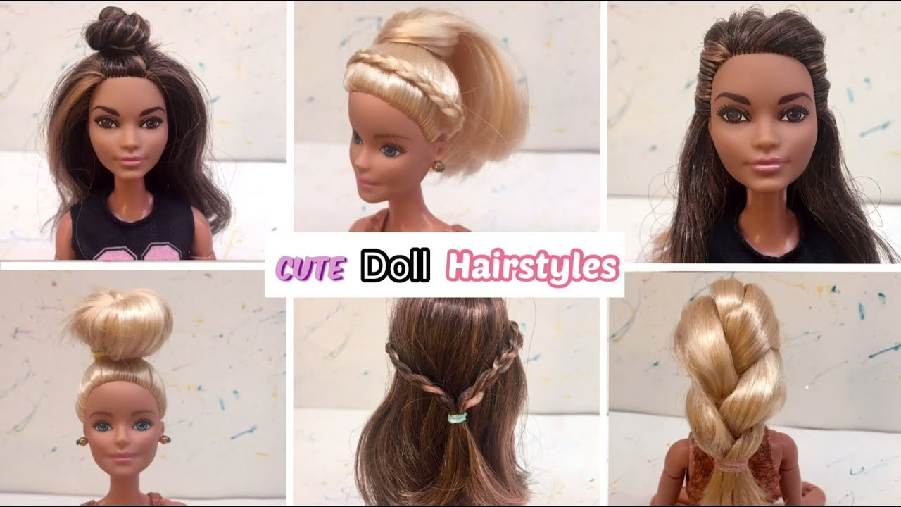 10 CUTE Barbie Hairstyles!!💕
