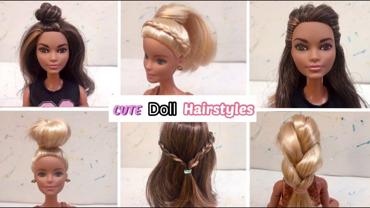 6 cute barbie hairstyles