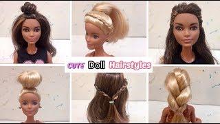6 CUTE Barbie Hairstyles!!💕