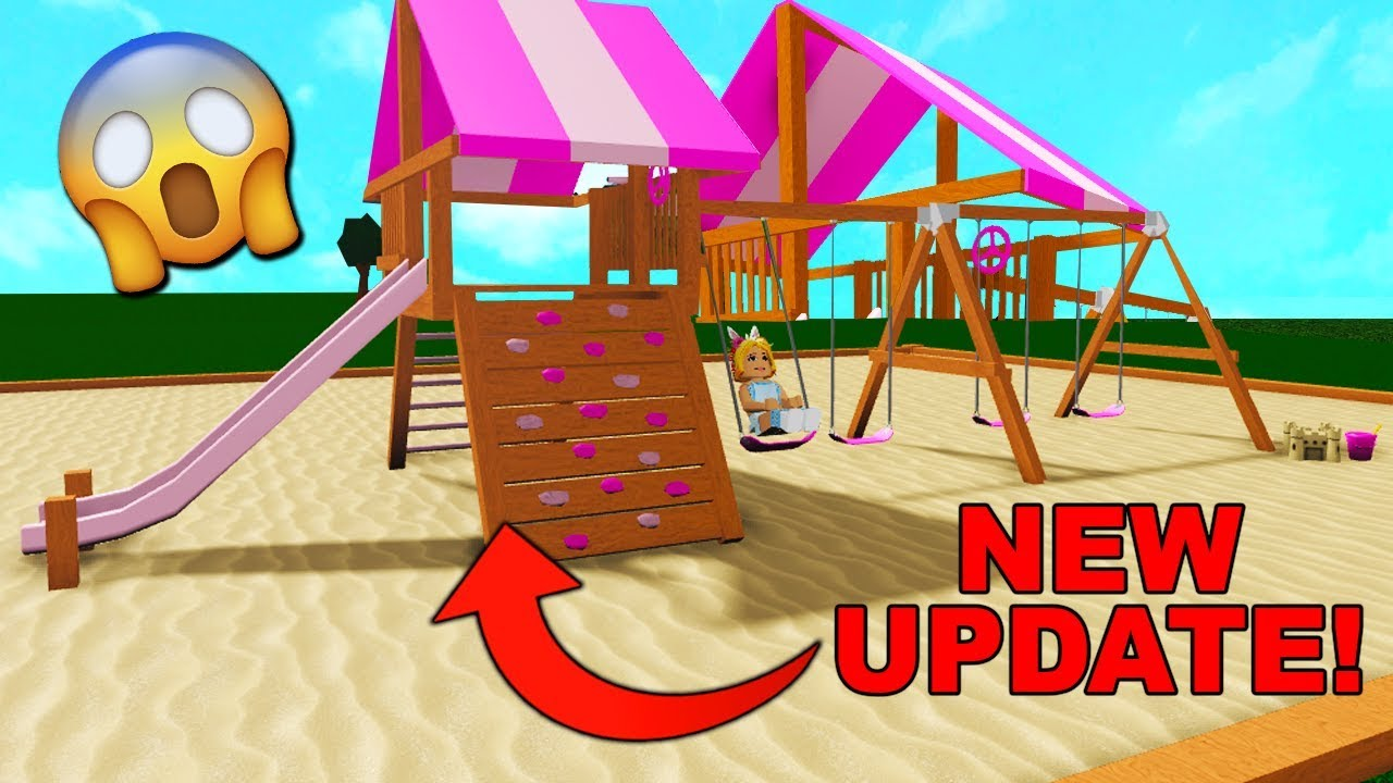 I Built A Playground In Bloxburg New Update Roblox Youtube