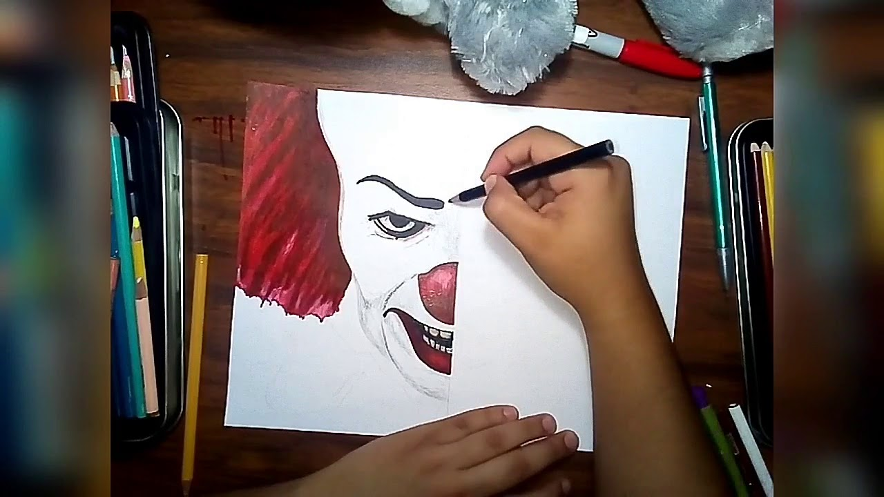Speed Draw Pennywise Clown 1990 Vs 2017 Youtube
