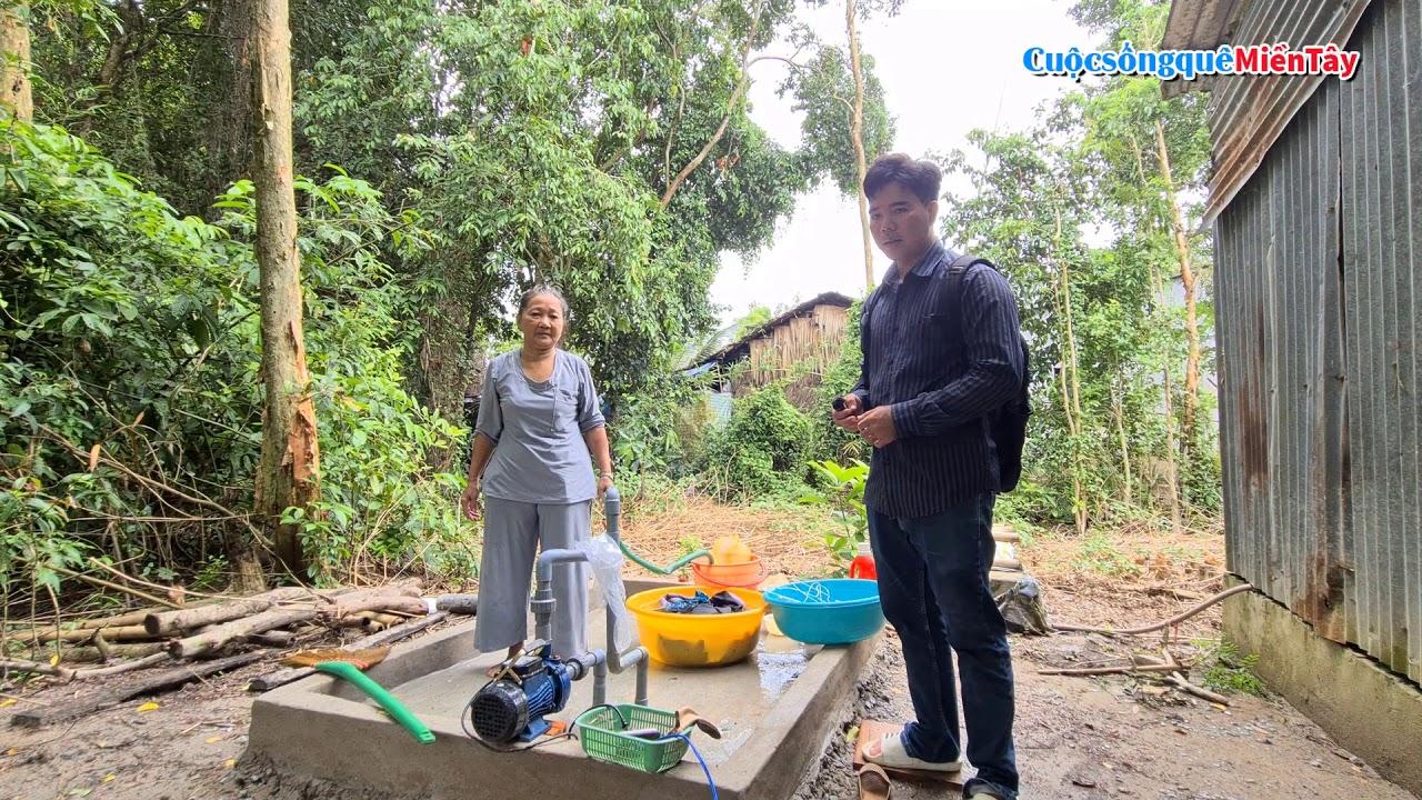 4 gia đình nghèo vùng sâu vùng xa vui mừng khi có nguồn nước sạch | Từ Thiện Miền Tây 6/7/2020