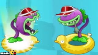 Plants Vs Zombies 2: Chomper Show Time Big Wave Beach Gameplay!